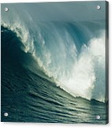 A Powerful Wave, Or Jaws, Off The North Acrylic Print