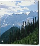 A Scenic View Of The Rocky Mountains Acrylic Print