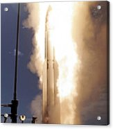 A Standard Missile 3 Is Launched Acrylic Print