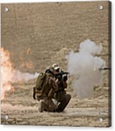 A U.s. Contractor Fires Acrylic Print