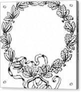 Advertising Art: Wreath Acrylic Print