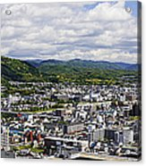 Aerial Japanese Cityscape Acrylic Print by Jeremy Woodhouse