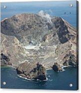 Aerial View Of White Island Volcano Acrylic Print