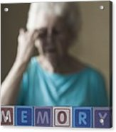 Alzheimer's Disease, Conceptual Image Acrylic Print