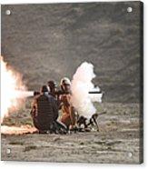 An Afghan Police Studen Fires Acrylic Print