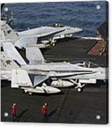 An Fa-18c Hornet During Flight Acrylic Print
