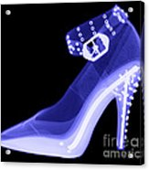 An X-ray Of A High Heel Shoe Acrylic Print