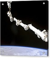 Astronaut Anchored To A Foot Restraint Acrylic Print