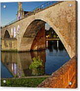 Avignon Bridge Acrylic Print