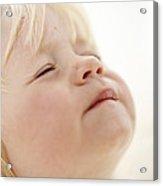 Baby Girl's Face Acrylic Print