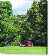 Back Yard Seating Acrylic Print