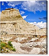 Badlands In Alberta Acrylic Print