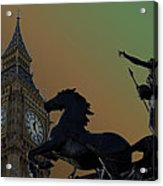 Big Ben And Boudica Statue Acrylic Print