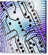 Biometric Fingerprint Scan Acrylic Print