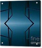 Blue Reflection Acrylic Print by Odon Czintos