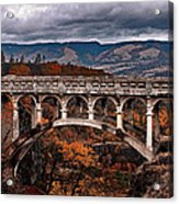 Bridge Over Autumn Acrylic Print