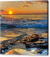 Burns Beach Wa Acrylic Print by Imagevixen Photography
