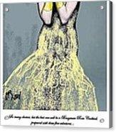 Cabaret Girl Acrylic Print