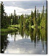 Calm Lake Reflection Acrylic Print by Conny Sjostrom