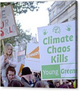 Campaign Against Climate Change March Acrylic Print