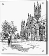 Canterbury Cathedral Acrylic Print