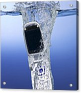 Cell Phone Dropped In Water Acrylic Print