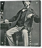 Charles Dickens, English Author Acrylic Print by Photo Researchers