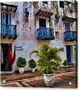 Colonial Buildings In Old Cartagena Colombia Acrylic Print