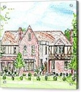 Custom House Rendering Acrylic Print
