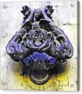 Door Knocker Acrylic Print