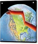 Earth Layers, Artwork Acrylic Print