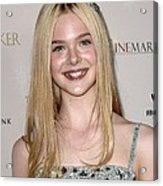 Elle Fanning At Arrivals For The Acrylic Print by Everett