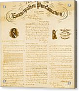 Emancipation Proclamation Acrylic Print by Photo Researchers