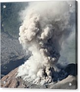 Eruption Of Ash Cloud From Santiaguito Acrylic Print