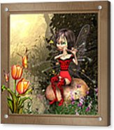Fairy Playing The Flute Acrylic Print