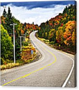 Fall Highway Acrylic Print by Elena Elisseeva