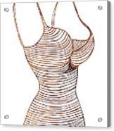 Fashion Sketch Acrylic Print