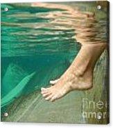 Feet Under The Water Acrylic Print
