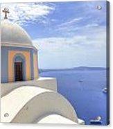 Fira - Santorini Acrylic Print by Joana Kruse
