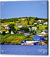 Fishing Village In Newfoundland Acrylic Print by Elena Elisseeva