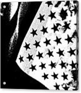 Flag Lady Acrylic Print