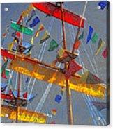 Flags Of Gasparilla Acrylic Print