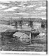 Flood: Clarksville, 1874 Acrylic Print