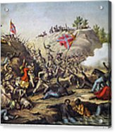 Fort Pillow Massacre, 1864 Acrylic Print by Granger