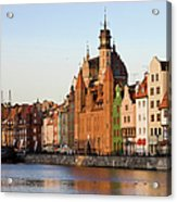 Gdansk Old Town In Poland Acrylic Print