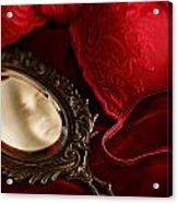 Gilded Antique Mirror With Reflection  Acrylic Print