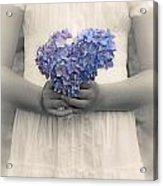 Girl With Hydrangea Acrylic Print by Joana Kruse