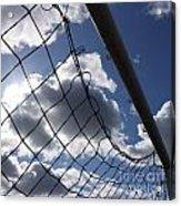 Goal Against Cloudy Sky. Acrylic Print