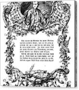 Goethe: Werther Acrylic Print