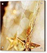 Golden Christmas Stars Acrylic Print